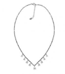 The Ava Teardrop Necklace is a sterling silver and CZ necklace featured in our Bridal Jewelry Collection.