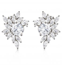The Liz Garland Clusters are sterling silver and CZ earrings featured in our Signature Jewelry Bridal Jewelry and Evening Jewelry Collections.