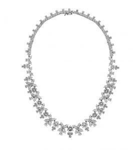 The Liz Garland Necklace is a sterling silver and CZ necklace featured in our Bridal Jewelry and Evening Jewelry Collections.