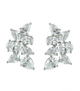 The Liz Pear Clusters are sterling silver and CZ earrings featured in our Signature Jewelry Collection.