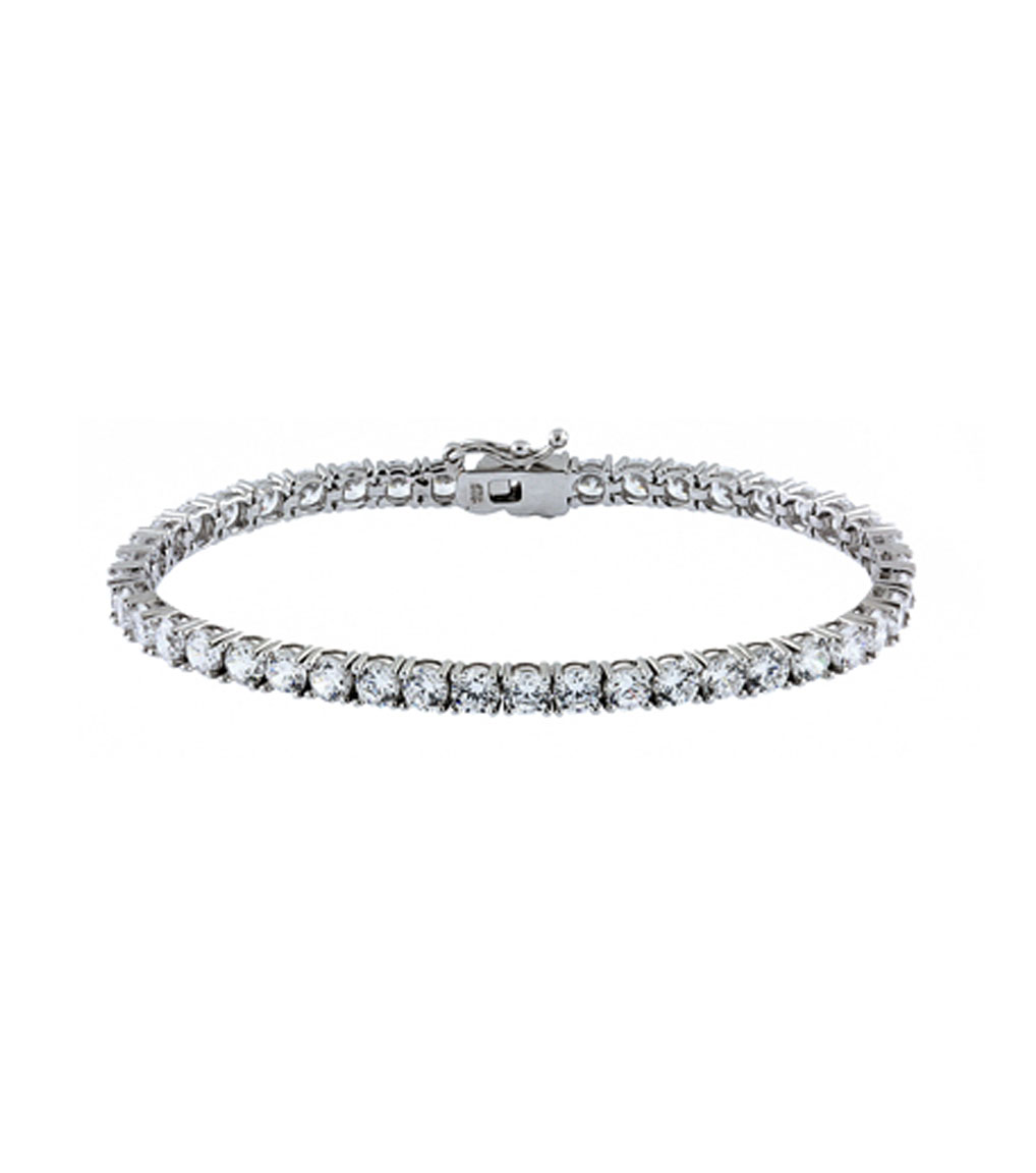 The Liz Round Tennis Bracelet is a sterling silver and CZ bracelet featured in our Signature Jewelry Bridal Jewelry and Evening Jewelry Collections.