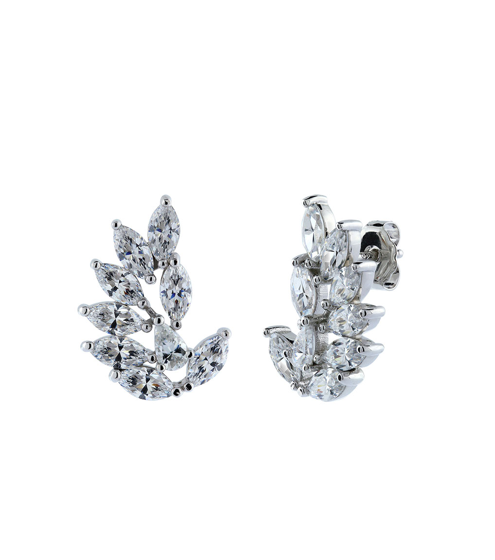 The Rita Marquise Clusters are sterling silver and CZ earrings featured in our Bridal Jewelry Collection.