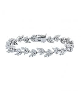 The Rita Marquise Fan Bracelet is a sterling silver and CZ bracelet featured in our Bridal Jewelry Collection.